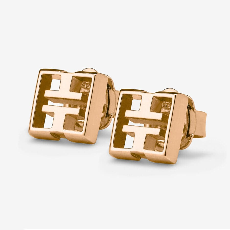 18ct Rose Gold Stud Earrings